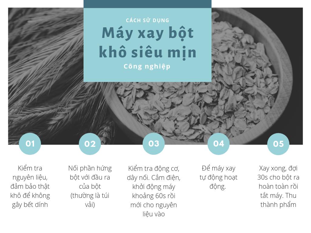cách dùng máy xay bột gạo khô