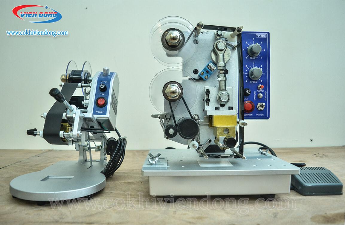 máy in date dập tay và máy in date tự động