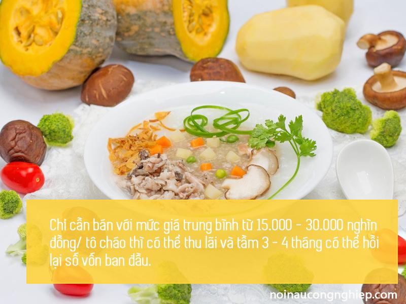 Cách bán cháo dinh dưỡng