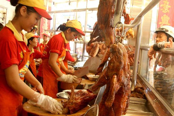 cơ sở bán thịt vịt quay